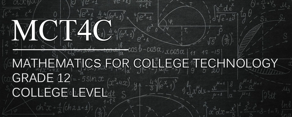 New Course: MCT4C – Mathematics for College Technology | The P A