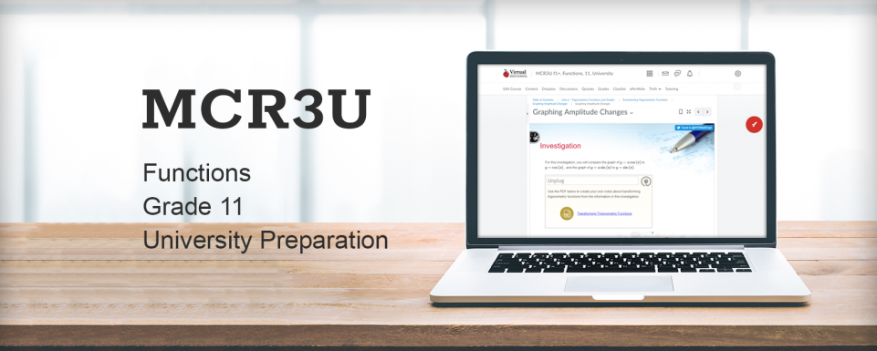 New Course: MCR3U – Functions | The P A  - News, Stories